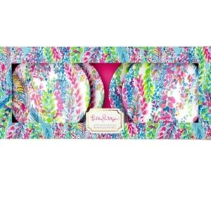 Lilly Pulitzer Catch the Wave Appetizer Plates Set
